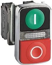 Illum Push Button, 22Mm, 1No/1Nc, Green/Red