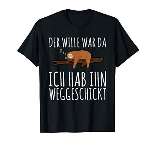 Faultier Sarkasmus Morgenmuffel Langschläfer T-Shirt
