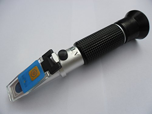 LED Refraktometer Frostschutz Solaranlage Batterie KFZ mit KALIBRIERFLÜSSIGKEIT 3021