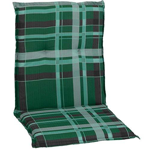 Beo Auflage Sitzkissen für Niederlehner in karo grün hellgrüne Streifen M900
