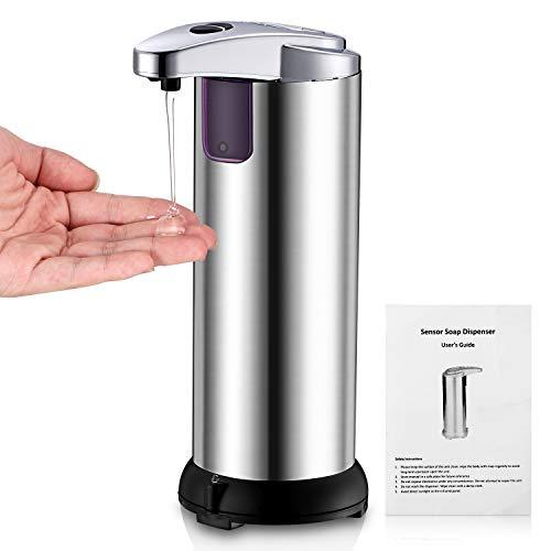 Dispensador de jabón automático Inteligente sin contacto | Sensor de Movimiento Infrarrojo | Base impermeable para Baño y Cocina