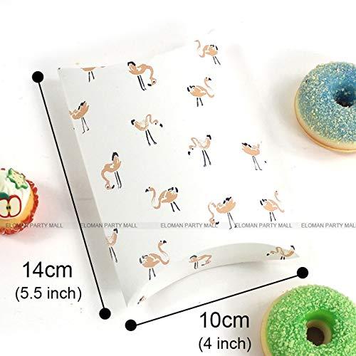 Geschenkdoos BLTLYX Doos Voor Chocolade Snoep Koekje Kerst Bruiloft Babg Groot Papier Gunst Geschenk Kussen Verpakkingsdozen 14 * 10cm Mini Flamingo-1PCS