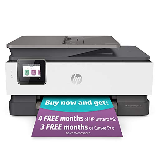 HP OfficeJet Pro 8025 All-in-One Wireless Printer, Smart Home Office Productivity, HP Instant Ink,...