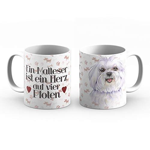 Malteser Tasse mit Spruch, Tasse Hund und Frauchen, Animal Crossing-Becher – Für Dich/Lustige Texte/Tasse Weihnachten/Personalisierte Tasse/Kaffeetasse Groß