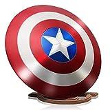 Getrichar Avengers Marvel Escudo del Captain America Shield Metal Superhero Series Disfraces de Halloween para Cosplay para niños Accesorios de películas para Adultos de un tamaño 1: 1 24 Pulgadas