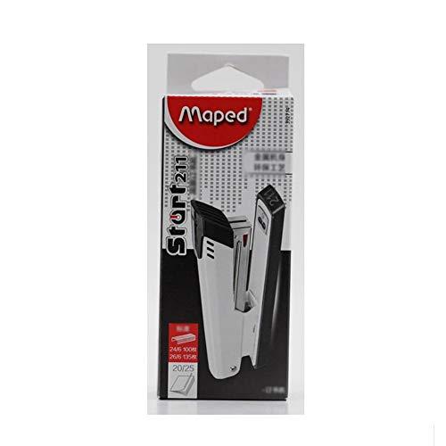 Minimalista Blanca Grapadoras, 20 Hojas Capacidad, Proceso de Protección del Medio Ambiente Único y Cuerpo de Metal (Color : White)
