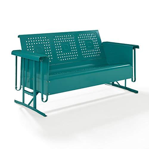 Crosley Bates Sofa Glider Turquoise Gloss