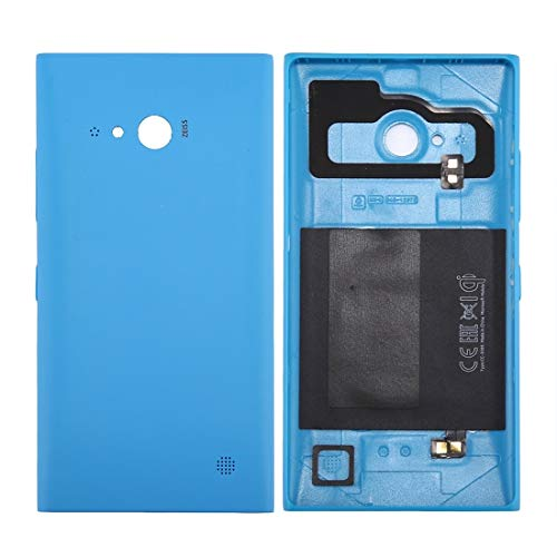 Cell Phone Battery Back Cover Solid Color NFC Battery Back Cover for Nokia Lumia 735 (Black) (Color : Blue)