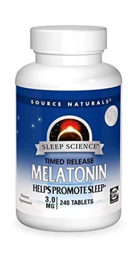 Source Naturals Sleep Science Melatonin 3 mg Helps Promote Sleep  240 Time Release Tablets