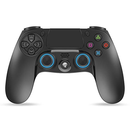SPIRIT OF GAMER - Playstation® 4 Joystick PGP Bluetooth Mandos Gamepad Black - Inalámbrico - Controlador con Conector Jack de 3.5 mm - Recargable por USB - 12 Horas en Espera - Almohadilla Central