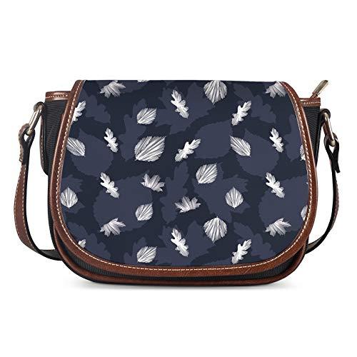 Lady Bags, Bolsos de Las Mujeres Messenger Ladies Bolsa de Hombro Personalidad al Aire Libre Chica Bolsa Femenino Sillín Casual Bag Crossbody,Azul