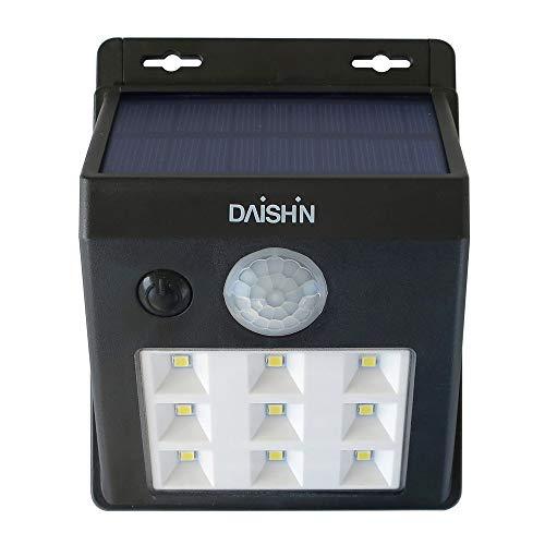 大進(ダイシン) 大進(DAISIN) ソーラーウォールライト DLS−WL001 DLS-WL001 本体: 奥行12.3cm 本体: 高さ4.8cm 本体: 幅9.5cm