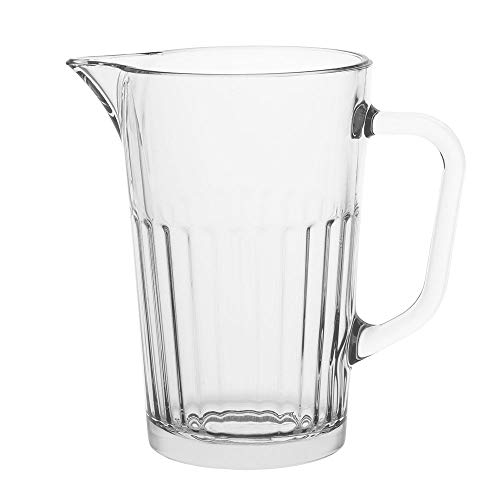 AmazonCommercial Fluted Style Glass Pitcher, 41.5 oz.