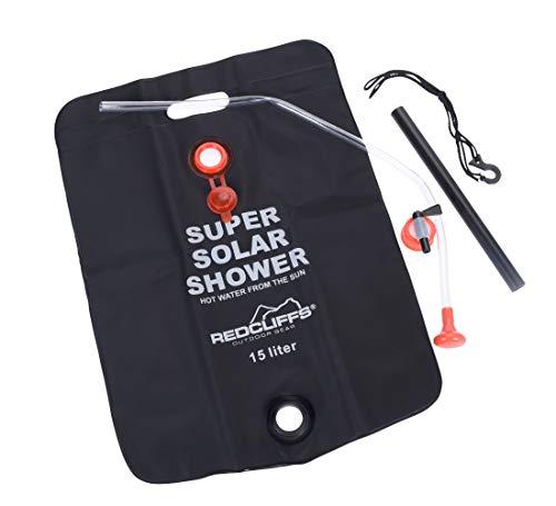 Spetebo - Ducha solar de camping (15 L, para exteriores, para colgar)