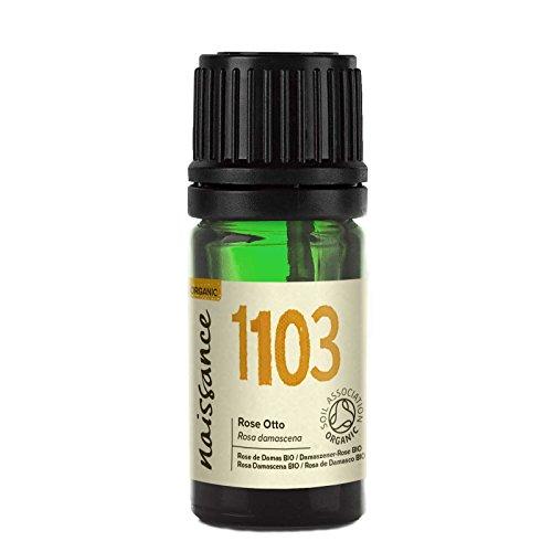 Naissance Olio di Rosa Damascena/Bulgara (Otto) Biologico - Olio Essenziale Puro al 100% - 2ml