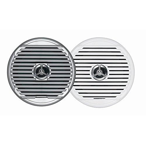 Jensen MSX65R Pair 6.5  Marine Hi-Performance Waterproof Coaxial Speakers, 75 Watts Maximum Power, 65HZ - 20kHz Frequency Response, 4 Ohms Impedance, 1  Voice Coil Size, Flush Mount