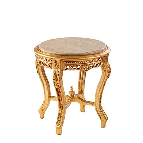 ITALUX MORE LIGHT Tavolino Barocco in Legno massello di Mogano Intagliato a Mano