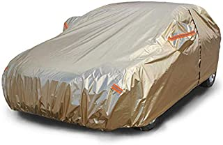 WYZXR Waterproof Full Car Cover Rainproof, Windproof, Dustproof, UV Resistant, Non-Flammable for Audi Models, Gold (Color : Gold, Size : Audi RS7)