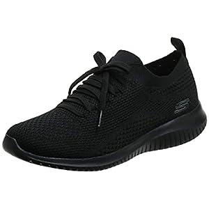 Skechers Women's Ultra Flex Statements Black/Black Sneaker 8 W US