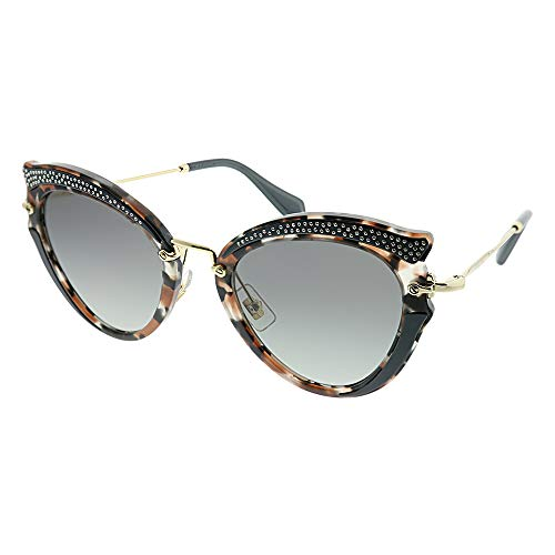 Miu Miu 0MU05SS 79A3M1 52 Gafas de sol, Marrón (Grey Havana/Brown/Grey), Mujer