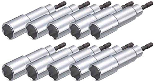 TRUSCO(トラスコ) まとめ買い 電動ドライバーソケット 10mm 10個入 TEF-10-10