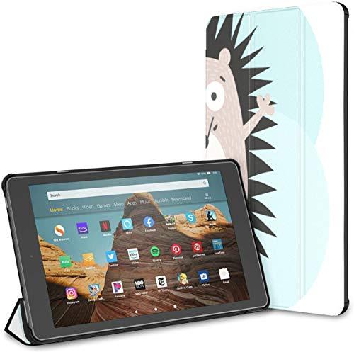 Estuche para una Tableta de Dibujos Animados Hedgehog Watercolor Fire HD 10 (9a / 7a generación, versión 2019/2017) Tableta de 10 Pulgadas Estuche Fire HD 10 para Hombres Auto Wake/Sleep para Table