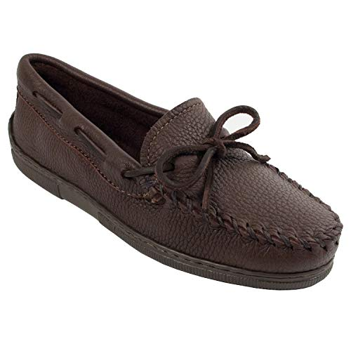 Minnetonka Women's Moosehide Classic Slip-On,Chocolate,6 M US