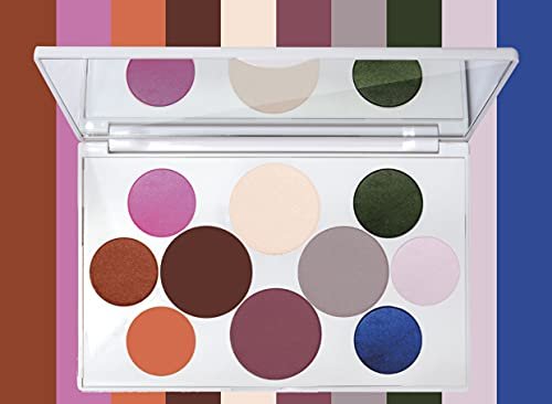 Crayola Beauty - Eyeshadow Palette - 10 Creamy Matte & Metallic Shades - Long-lasting, Blendable, Highly Pigmented Color, Velvety Finish - Talc Free Formula & Vegan Friendly - Tropical - 0.63 Ounce