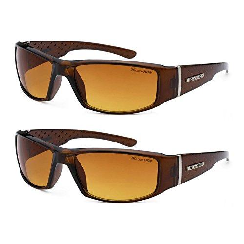 x loop night vision driving glasses HD Vision Anti-Glare Driving Glasses X-Loop 2 PACK w/ Micro Fiber Bag