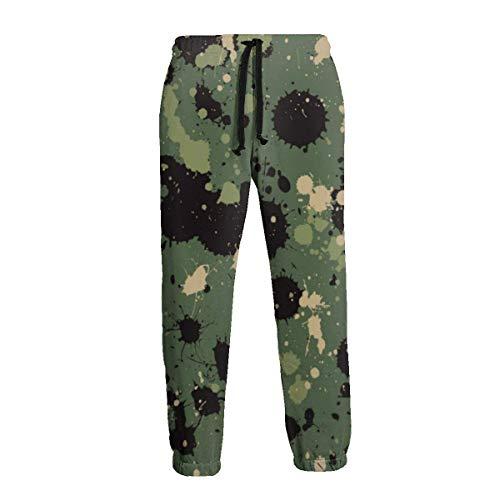 AEMAPE Camo Splatters Pantalón de chándal S con Bolsillos para Hombre