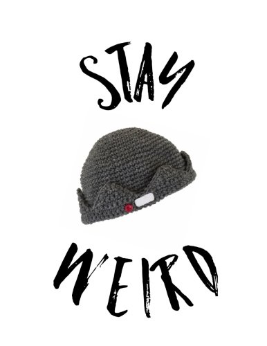 Stay Weird: Jughead Beanie Hat Crown Music Staff Paper Notebook, 8.5 x 11