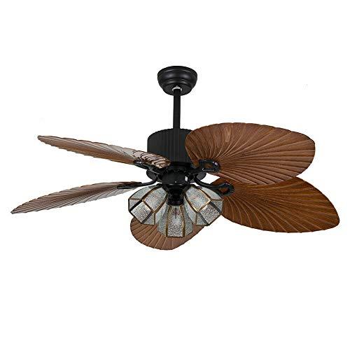 Ventilador de techo LED de 52 pulgadas, aspas modernas con motores muy silenciosos, 3 velocidades regulables