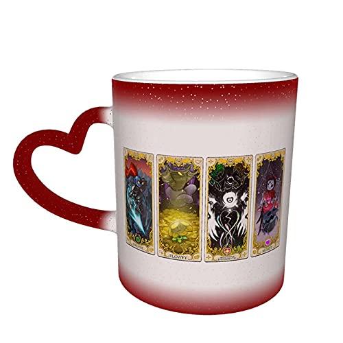 Undertale - Taza de café que cambia de color, taza de cerámica en el cielo