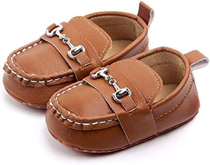 QIETION Baby Girls Boys Loafers Cute Newborn Crib Shoes PrewalkerPU Sneakers Perfect for Baptism product image