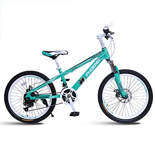 Bicicleta para niños Bicicleta de Montaña para Niños de 20/22 Pulgadas, Freno de Disco Doble de 21 Velocidades con Asiento Ajustable Commuter de Horquilla de Suspensión Bicicleta de Ciudad