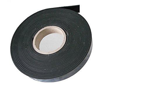 (1,34 €/m) Vollgummi Gummistreifen Gummiprofil ca. 9,6 Meter x 20 x 3 mm, EPDM Hartgummi selbstklebend, schwarz - Industrieware