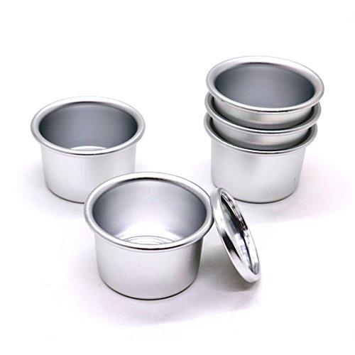 IDS Set of 5 Perfect Performance Aluminium Mini Round Chiffon Cake Pan, 2 Inch