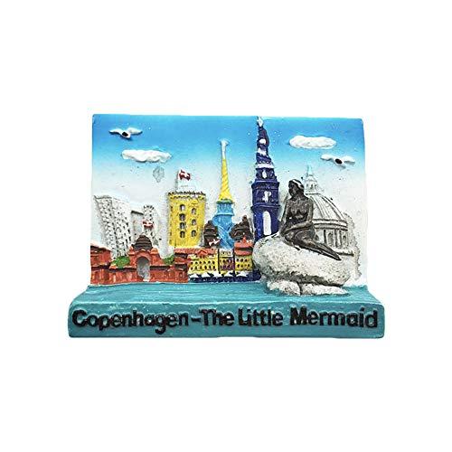3D Kopenhagen Dänemark Kühlschrankmagnet Reise Aufkleber Souvenirs, Harz Home & Kitchen Dekoration, Dänemark Kühlschrankmagnet aus China