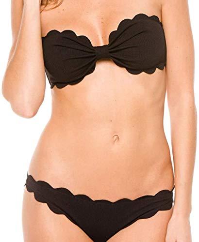 Women's Split Swimwear halter band Bikini Candy Swimsuit Geschikt for strand en zwembad pakken, Maat: L, Kleur: Rood (Color : Black, Size : XL)