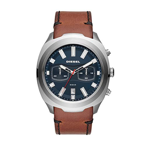 Diesel Herren Chronograph Quarz Uhr mit Leder Armband DZ4508