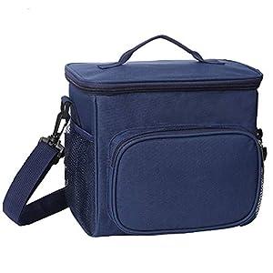 esonmus Bolsa Térmica Comida 10L, Termica Porta Alimentos con Correa Portatil Bolsa de Almuerzo para Adulto Niños Bolsa Nevera Oficina Escuela Viaje (Azul)