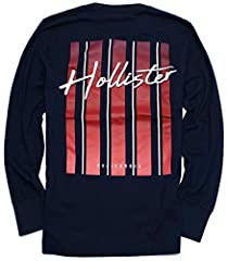 Designed with Hollister's original graphic logo, the Iconic Logo Collection takes you back to our roots. Featuring supersoft jersey fabric, crewneck, an embroidered logo and graphic applique, Slim Fit, Imported. 60% Cotton, 40% Polyester