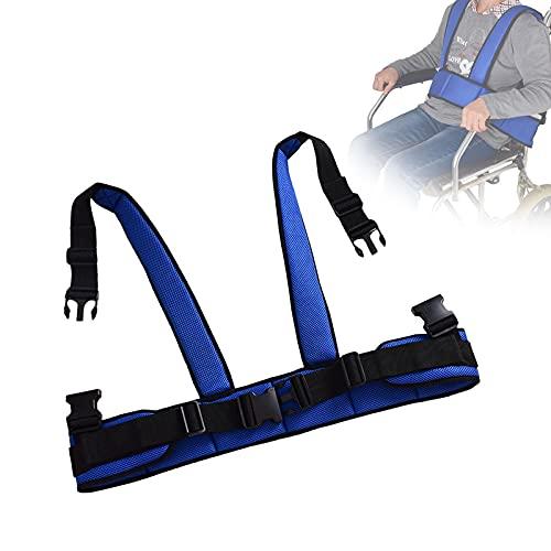Cinturón de Seguridad para Silla de Ruedas, Cinturón Sujeción Silla De Ruedas con Tirantes Dobles, Ajustable Cinturón Prevención 360 ° Arnés de Cuerpo para Pacientes, Ancianos y Discapacitados ✅