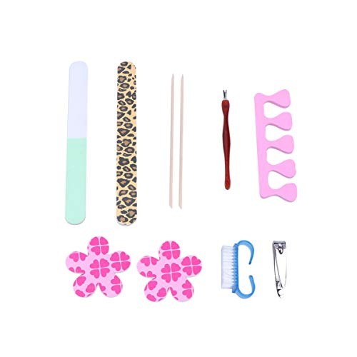 Milisten 10 Pcs Nail Art Cuticules Remover Set Pusher Clippers Lime À Ongles Tondeuse Tampon Dead Skin Removal Kit De Manucure Nail Beauty Supplies