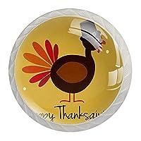 引き出しハンドルは装飾的なキャビネットのノブを引っ張る ドレッサー引き出しハンドル4個,花感謝祭の七面鳥