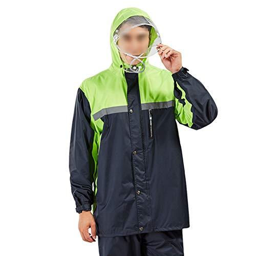 Heren regenjas Rain Kostuum van de Broek Outdoor waterdichte jas Overalls 3 lagen transparante Big Brim To Protect The Face uit speeksel Splash