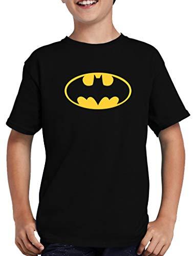 Batman Logo T-Shirt Kinder 110/116 Schwarz