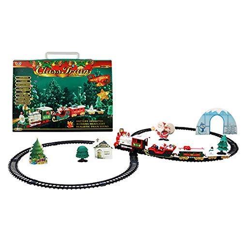 Weihnachtszug Deko Elektrisch Klein Zug Eisenbahn Christmas Train Komplett Mit Schienen Santas Dekoration Weihnachtsdeko Spielzeug Bahnzug Set Das Straßentransport Gebäude Spielwaren Läuft