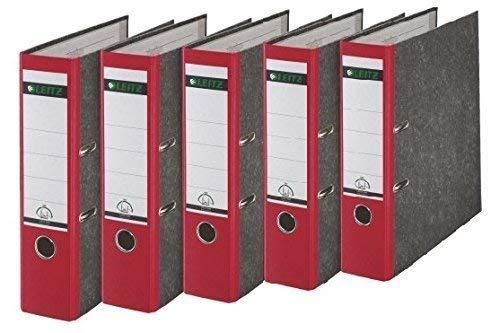 Leitz 1080/1050 Standard Ordner A4 (breit | 5er Pack, rot)