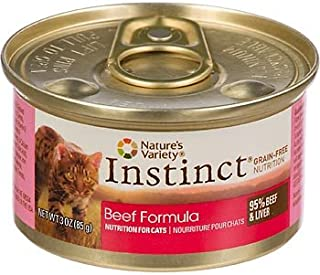 Nature's Variety Instinct Grain-Free Beef Canned Cat Food, Case of 24